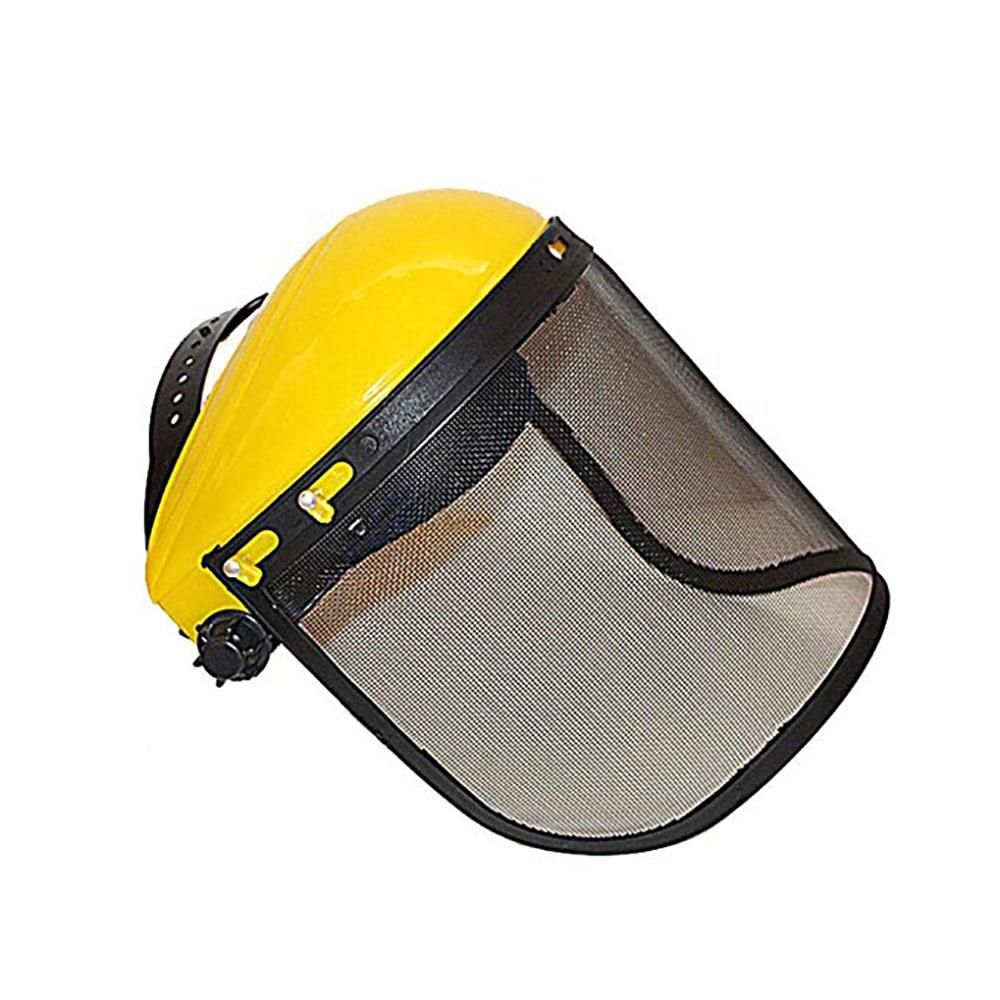 Защитный шлем шляпа с полным лицевым сетчатым козырьком для лесозаготовки, защита лесного хозяйства, защитная сетка, шлем косилка