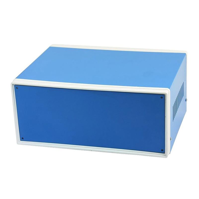 9,8 pulgadas x 7,5 pulgadas x 4,3 pulgadas caja de empalme de Metal azul caja de proyecto DIY