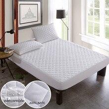 Couverture de lit en tissu brossé   Protecteur de matelas matelassé, imperméable, dessus de matelas pour lit, housse de matelas copri rete