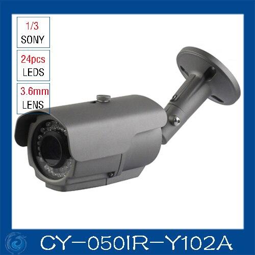 Cámara ir color mejor precio 700 TV L sensor de seguridad cámara cctv. CY-050IR-Y102A