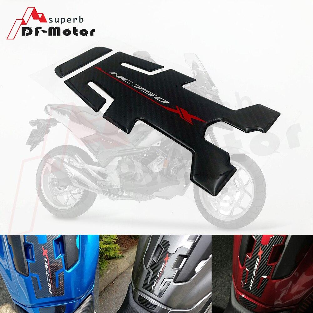 Almohadilla para depósito de gasolina de aceite de fibra de carbono 3D de alta calidad, adhesivo Protector de almohadilla de tanque, pegatina de motocicleta para HONDA NC750X NC 750 X