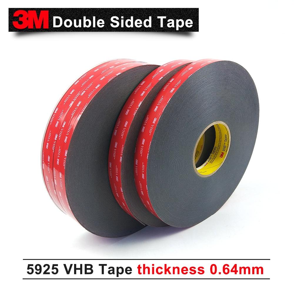 3M VHB 5925 يموت قطع الشريط إلى 10 مللي متر عرض/أسود اللون/0.64 مللي متر سمك الاكريليك رغوة الشريط جدا عالية الترابط 5925 3M لاصق