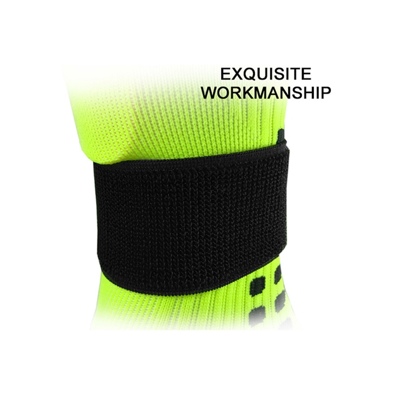 Nouveau 1 paire cheville soutien tricoté tissu élastique réglable sangle fixe Football Football chaussettes femmes hommes pied cheville couverture protéger