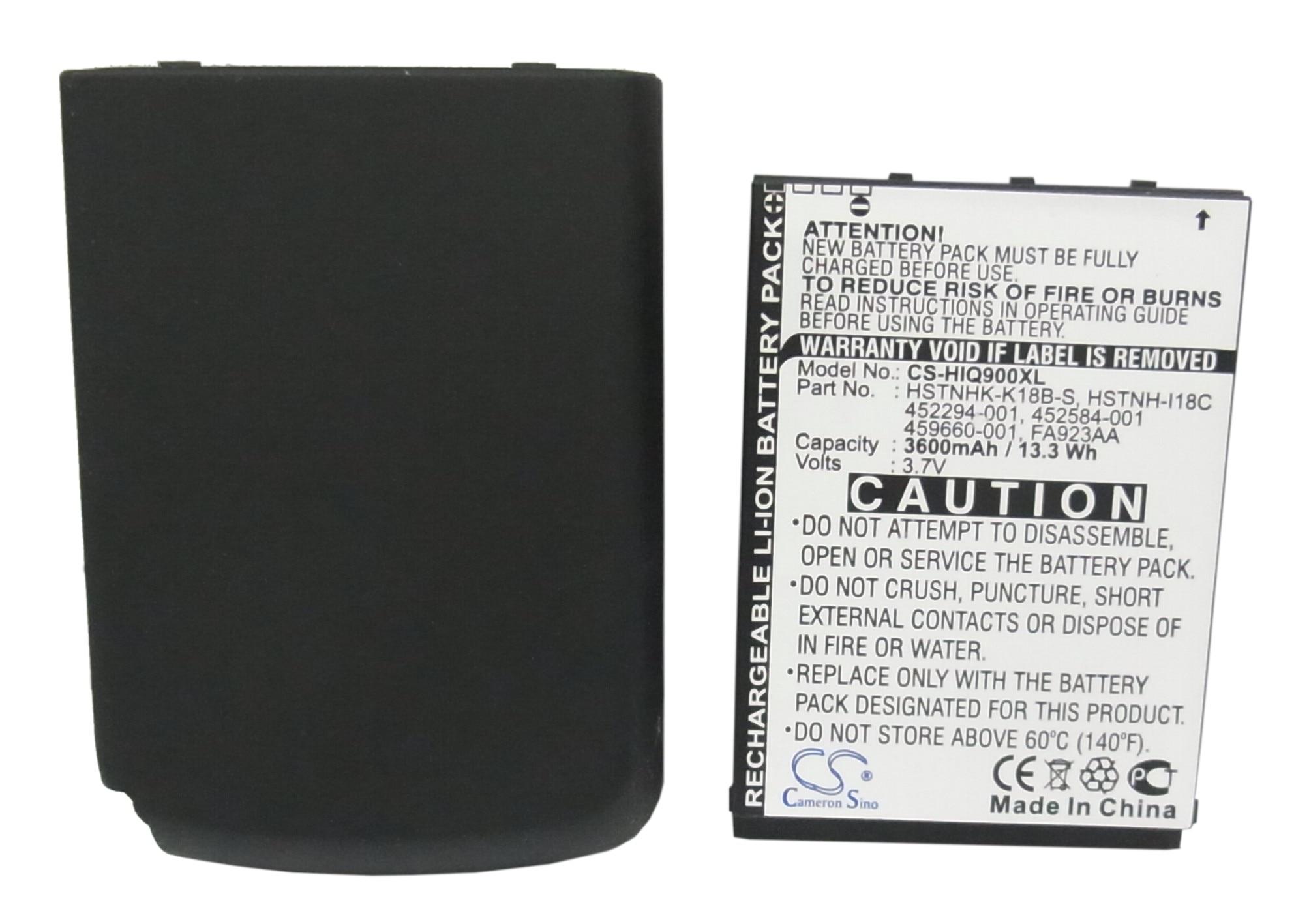 Cameron sino 3600 mah bateria 452294-001, fa923aa, HSTNHK-K18B-S para hp ipaq 900, 910, 910c, 912, ipaq 912c