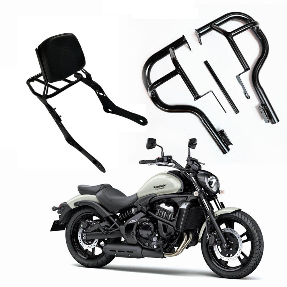 Nuevo soporte de respaldo para motocicleta Sissy trasero asiento de pasajero barra parachoques para Kawasaki Vulcan S650 VN650 VN 650 2015-2016-2017-2018