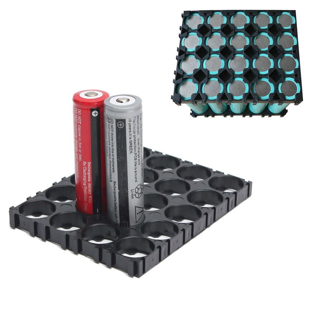 Nueva alta calidad 20/30/40/50 Uds. 4x5 pilas 18650 soportes espaciadores carcasa radiante soporte de plástico WIF66