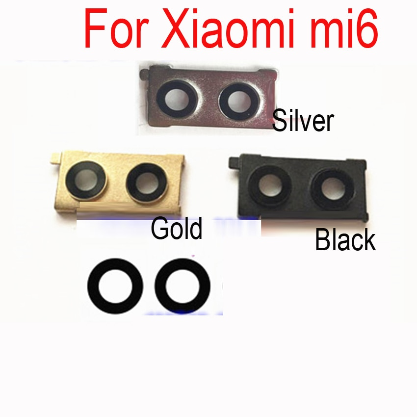 LTPro, cubierta de lente de cristal de cámara de alta calidad para xiaomi mi6 m6, cristal de la Lente de la cámara trasera, piezas de repuesto de reparación