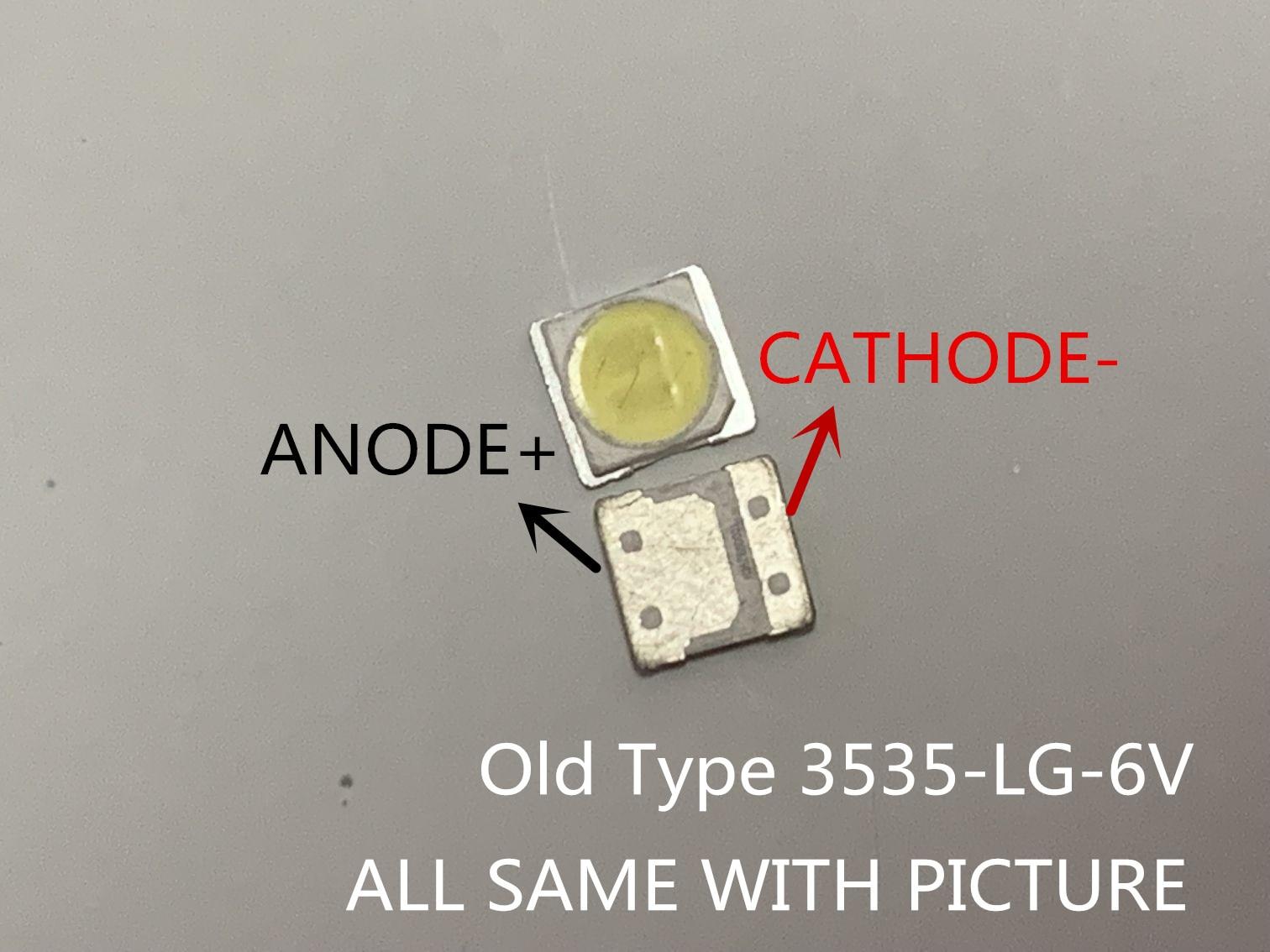 Para LG SMD LED tipo antiguo LG led 10 Uds 3535 6V CHIP blanco frío-2 2W para TV/retroiluminación LCD aplicación de TV original 3535 6v