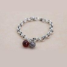XIYANIKE 925 en argent Sterling cloche creuse chaîne bracelet de mariage fête déclaration bijoux pour les femmes mode Bracelet cadeaux VBS4149