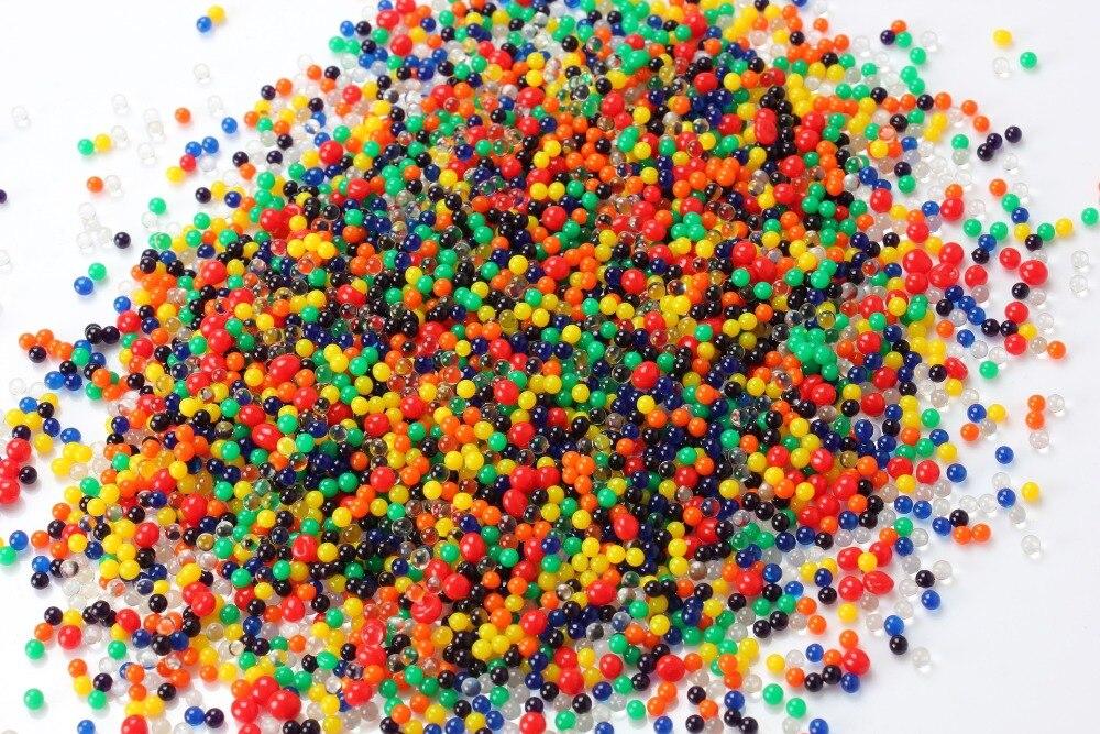 2000 partículas/lote cuentas de agua en forma de perla de cristal bolas de agua para tierra barro crecer Bolas Mágicas de gelatina boda Casa Decor de hidrogel