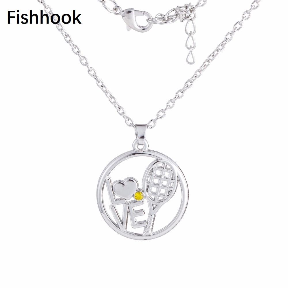 Рыболовный крючок модные спортивные украшения Любовь теннис подвеска в виде ракетки звено цепи ожерелье