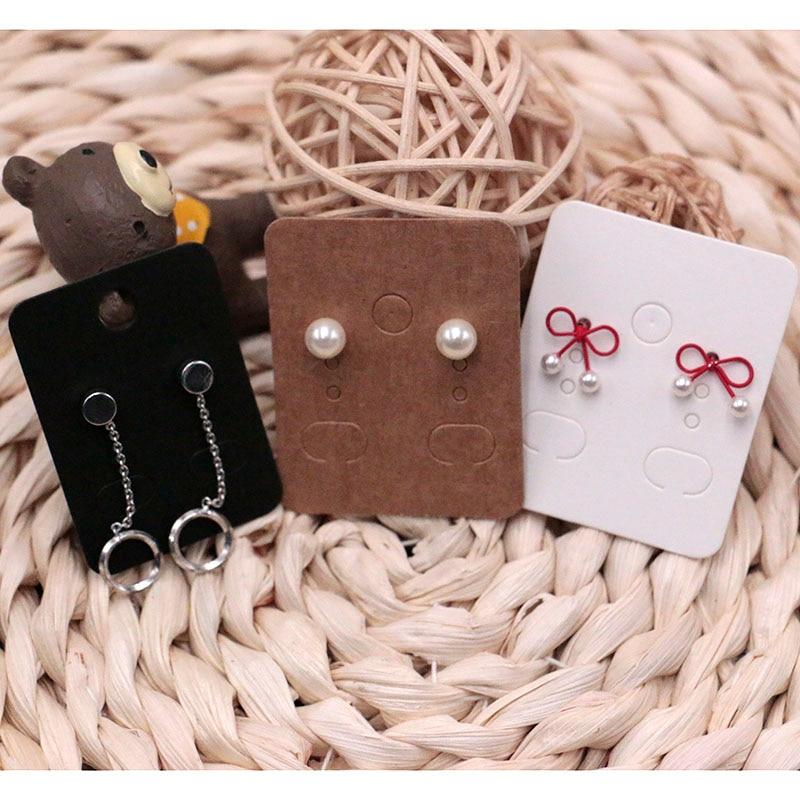 Atacado Classical 200 pçs/lote Jóias Brinco Display Card Embalagem Etiquetas de Preço de Jóias Cartão De Papel Kraft para DIY Mão-fazer