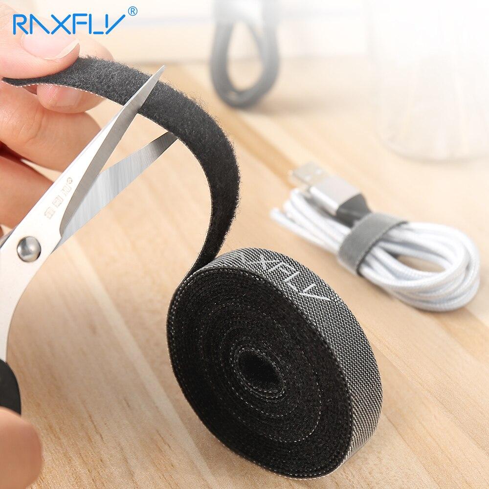 RAXFLY câble organisateur fil enrouleur support souris cordon pince protecteur câble bureau bureau gestion pour iPhone Micro USB Type C