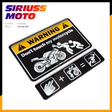 Pegatina de tanque para motocicleta 3D Do Not Touch My, pegatina de advertencia para Kawasaki Yamaha Honda Suzuki KTM Ducati BMW Benelli