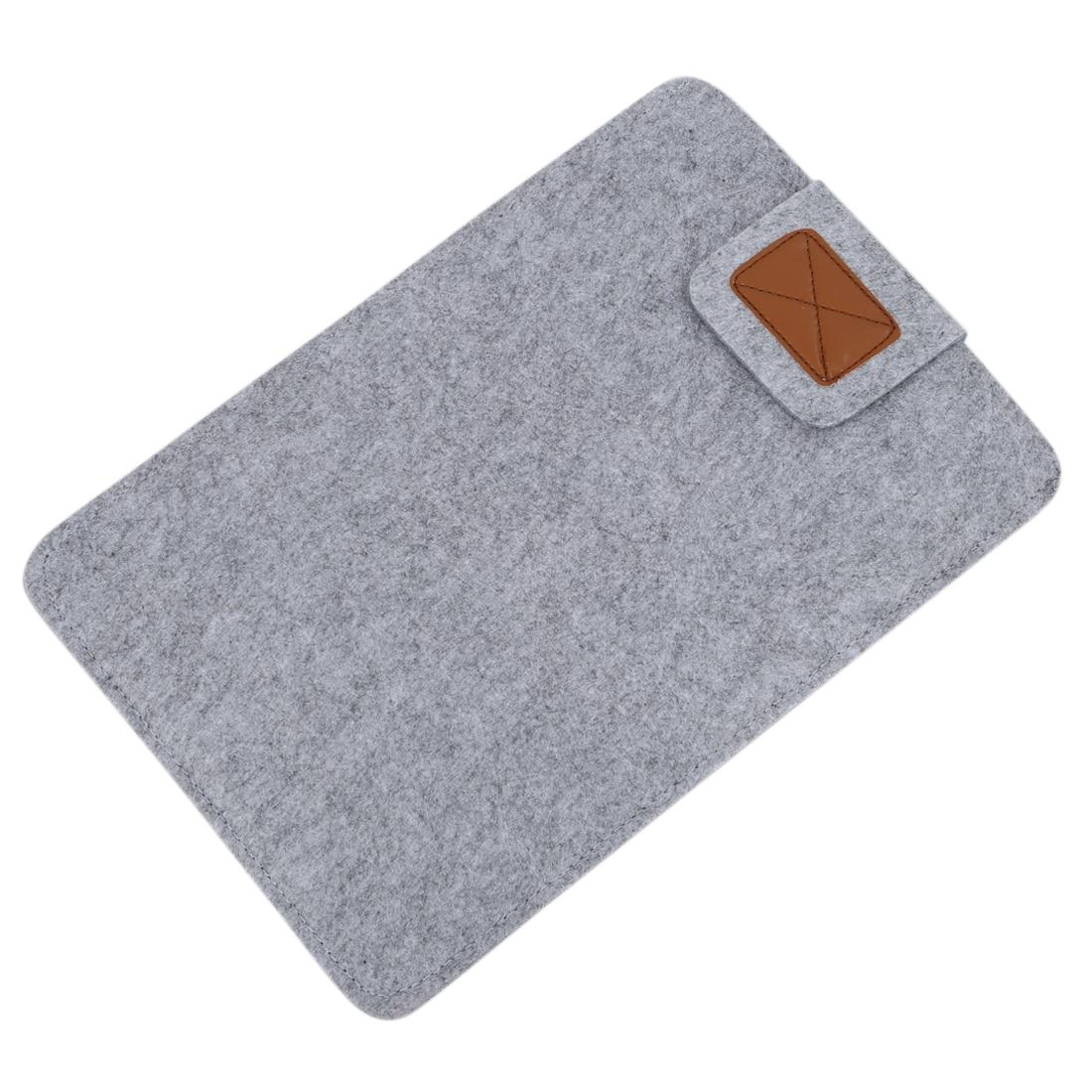 Funda de fieltro suave para PC, Macbook Air Ultrabook, portátil, Notebook, Tablet PC, gris, 13 pulgadas