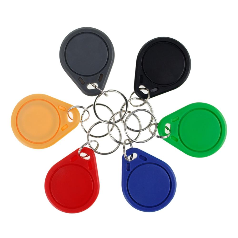 (Paquete de 10/20/50/100) llaveros RFID de 13,56 MHz, tarjeta de control de acceso de mandos, clave ISO14443A MF 1 K, etiqueta Token NFC clásica, solo lectura