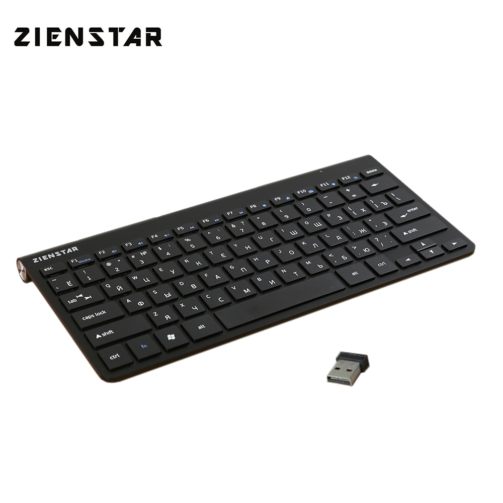 Беспроводная клавиатура Zienstar для MACBOOK, ноутбука, ТВ-приставки, компьютера, Smart TV с usb-ресивером, 2,4 ГГц