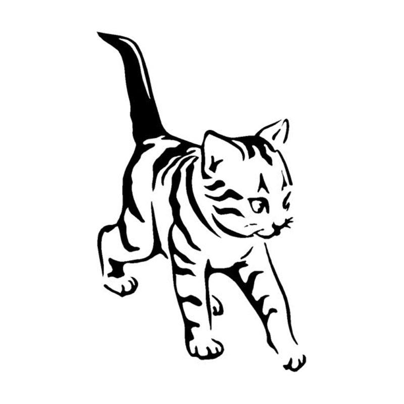 8.7*14.2CM Cute Pet Cat Window Decoration Vinyl Decal Classic Fashion Accessories Car Sticker Black/