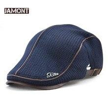 Jamont 고품질 겨울 니트 베레모 casquette homme 남성용 가죽 플랫 캡 boina hombre 바이저 모자 planas snapback hat