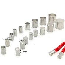 20 pièces embouts en acier inoxydable pour corde en cuir 1.5/2/3/4/5mm pour bijoux à bricoler soi-même