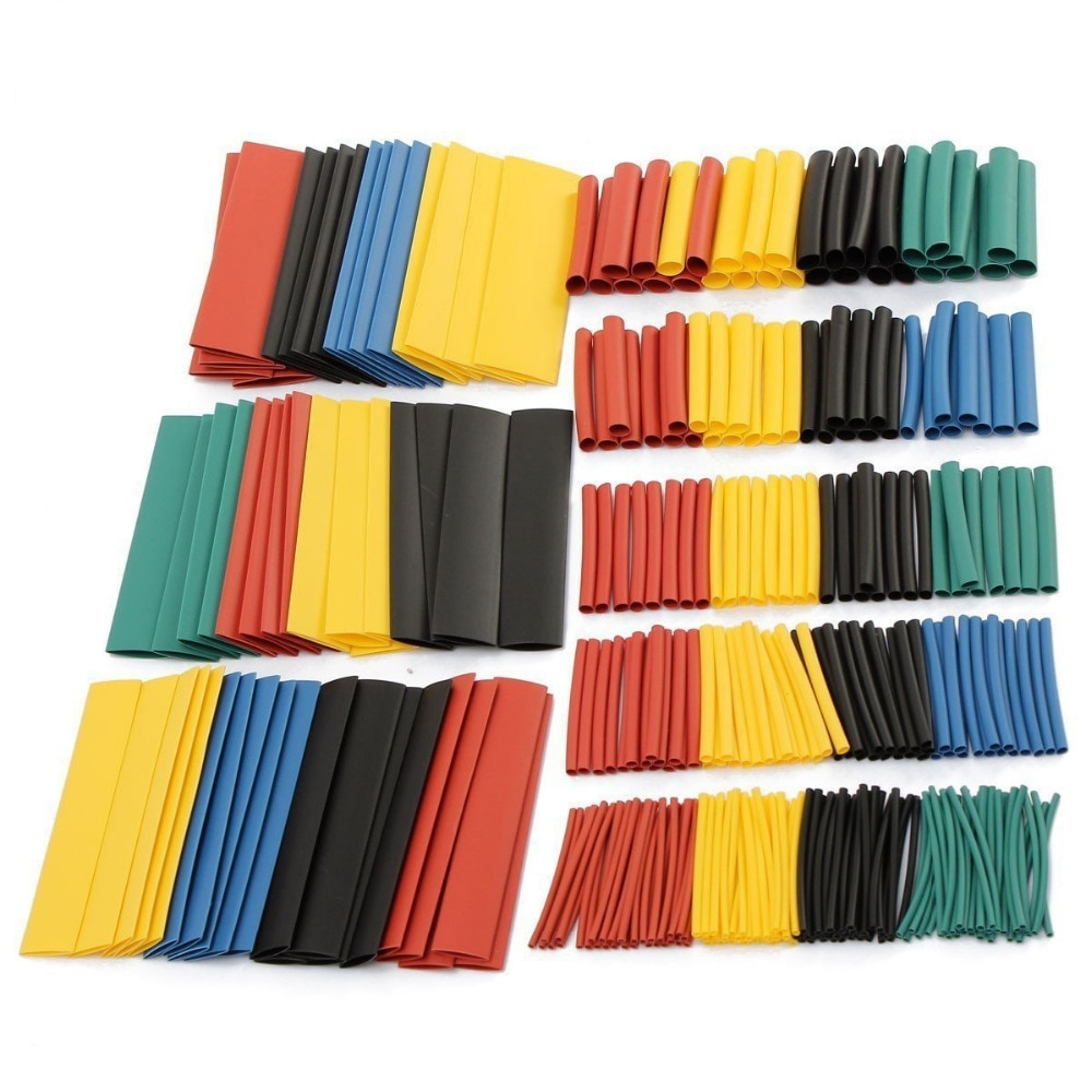 530pcs / set 1 set 2 times heat shrinkable tube polyolefin various heat shrinkable tube wire and cable insulation radiation insulation and moisture proof heat exchanger and waterproof air conditioner tube heat pipe insulation tape