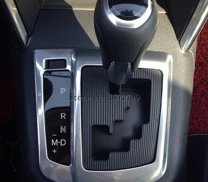 Diseño de coche en embellecedor de panel de cambios tapicería marco interior accesorio de coche para Mazda Cx-5 2012 2013 2014 Abs cromo 1 pieza por juego