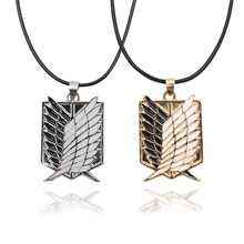 2019 Shingeki No Kyojin collier attaque sur Titan pendentif collier Anime Cosplay ailes collier pour moto cadeau livraison directe