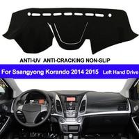 TAIJS Car Dashboard Cover Dashmat For Ssangyong Korando 2014 2015 Automobile Dash Mat Sun Shade Pad Carpet Dash Board Cover