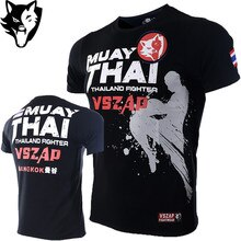VSZAP Boxing MMA T Shirt Gym Tee Shirt Fighting jerseys Fighting Martial Arts Fitness Training Short Muay Thai T Shirt jiu jitsu