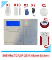 Systeme dalarme domestique intelligent GSM  avec sirene interieure et exterieure et detecteur de fumee  controle par WebIE et application Mobile  bricolage  grosse reduction