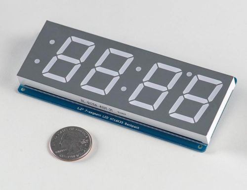 New Red 1.2 4 Dígitos 7 Seven Segment Display LED voltímetro IIC