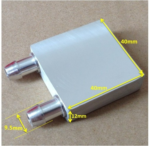 40*40*12mm bloque de agua refrigerador termoeléctrico CPU gráficos Chipset placa fría refrigeración por agua LED de aluminio radiador refrigerado por agua