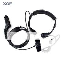 flexible throat mic microphone covert acoustic tube earpiece headphone for motorola xirp8260p8268p8200xpr6550 two way radio