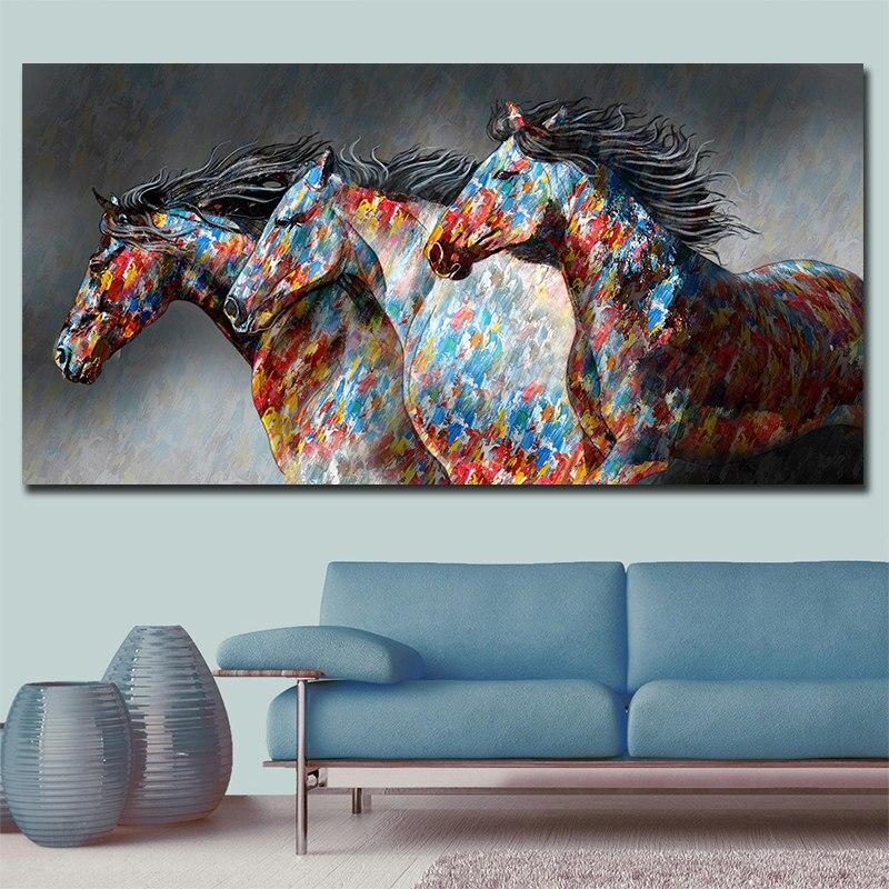 70x140cm Running Horse Canvas Painting,Big Size Canvas Wall Art,Scandinavian poster Printing,Cheap drop shipping canvas prints