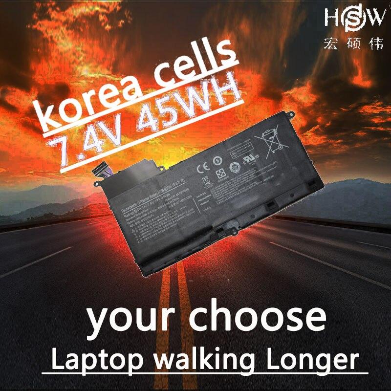 Batería de ordenador portátil HSW para Samsung AA-PBYN8AB NP530U4B-A01US 530U4C batería para ordenador portátil 535U4C baterías BA43-00339A