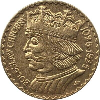 Позолоченные 24 K 1925 10 Zlotych копии монет Польши