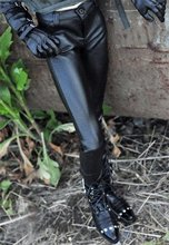 [Wamami] 77 # noir pantalon en cuir artificiel pantalon tenue pour 1/4 MSD 1/3 SD DZ SD17 70cm BJD poupée Dollfie