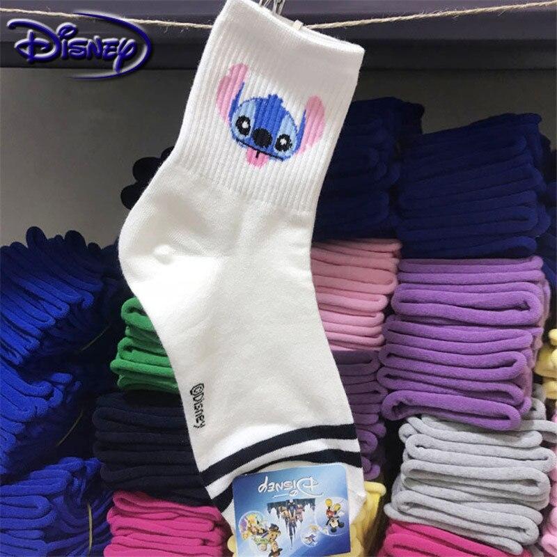 Disney bonito mickey dos desenhos animados 100% meias de algodão novo design barco meias casuais meias macias