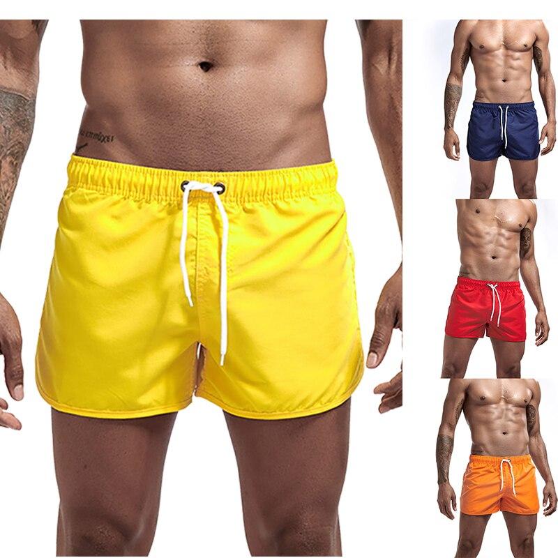 Bañadores Gay para hombre, bañadores sólidos para hombre, pantalones cortos de natación para hombre, traje de baño, ropa de surf de playa, pantalones cortos para hombre Zwembroek Heren