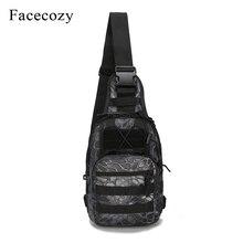 Bolsa impermeable para pesca al aire libre militar Facecozy, mochila de escalada, mochila de hombro, mochila táctica para Camping, bolsa de camuflaje para pesca