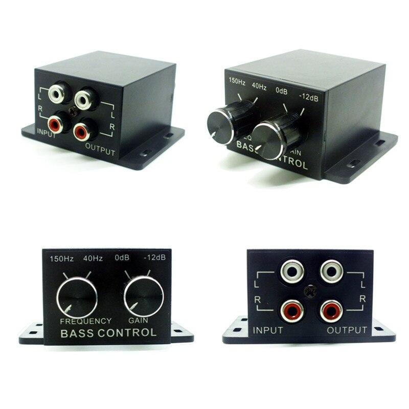 Auto Regulador de Potência Do Amplificador Do Carro Subwoofer de Áudio Bass Equalizador Crossover Controlador de Nível de Linha RCA Ajustar Volume Autoradio