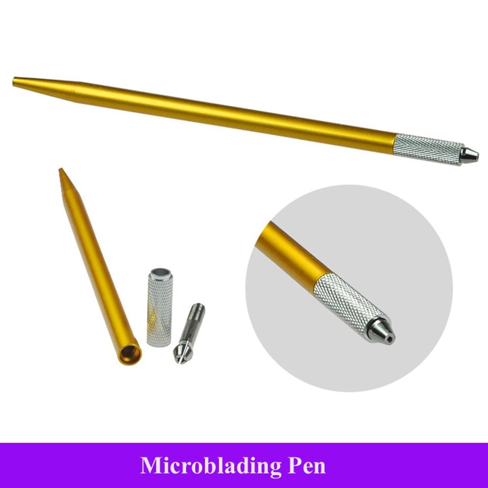 Venta al por mayor de mangos de hoja Circular Microblading ligero agarre fino Manual Microblade Porta agujas pluma de aguja redonda