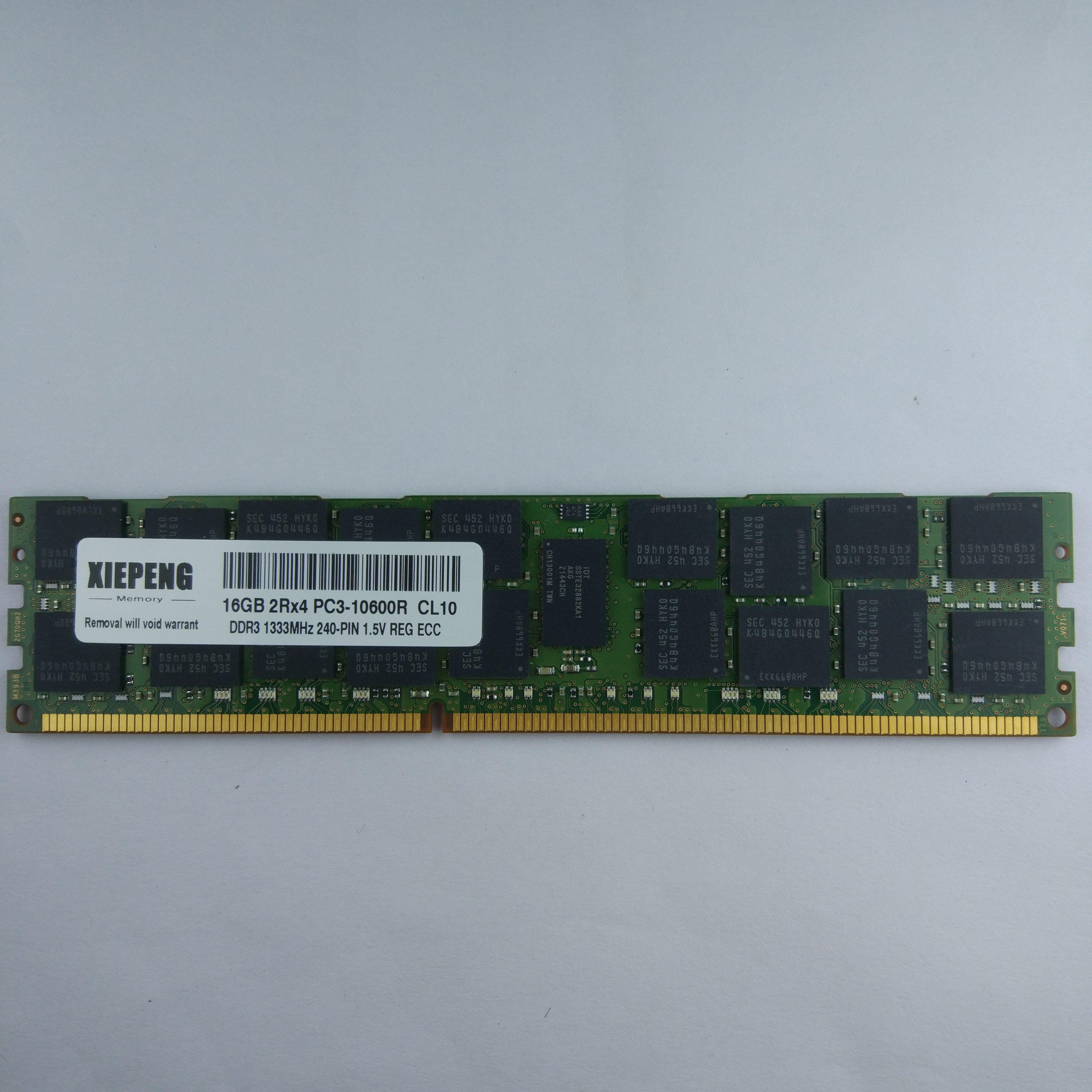 Для сервера Dell PowerEdge R520 R610 R620 R715 R720 R720xd, ОЗУ 32 ГБ, 4Rx4 PC3L-10600R REG ECC 16g DDR3 1333 МГц 8G