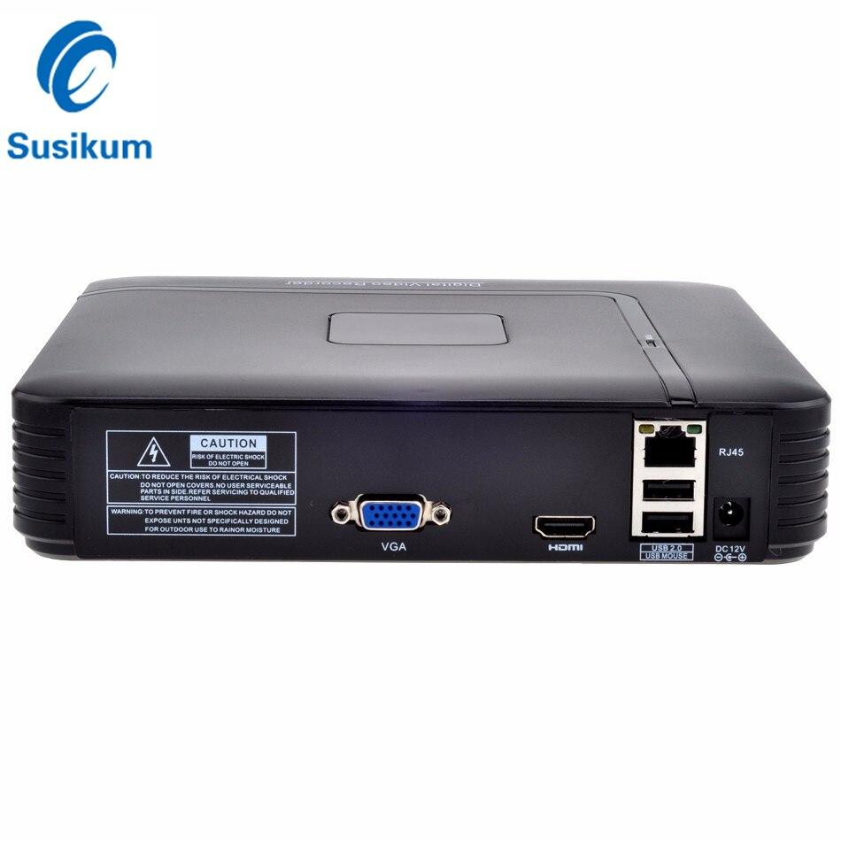 Мини NVR 4CH 5MP H.265 HDMI VGA Видео Выход безопасности автономная камера рекордер для IP камеры системы