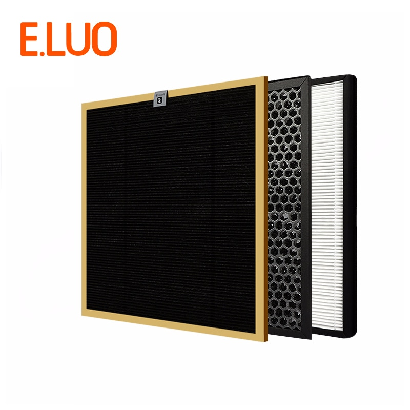 HEPA AC4142 AC4143 Formaldehyde Filter+ Activated Carbon Filter++HEPA Filter for Air Purifier mexi air purifier hepa filter cartridge carbon fiber formaldehyde removal for original xiaomi oled display smart air purifier 2s