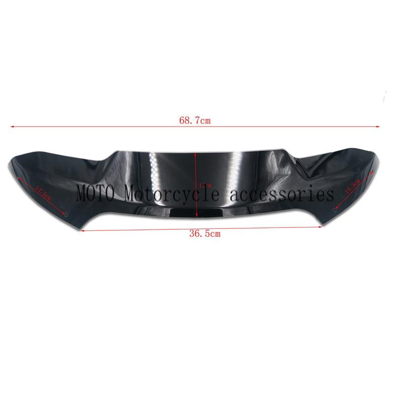 "Deflector de viento de motocicleta 4 ""para cabezas de tiburón de doble luz parabrisas delantero para Harley Rode Glide modelos 2015 2016 2017 57400310"