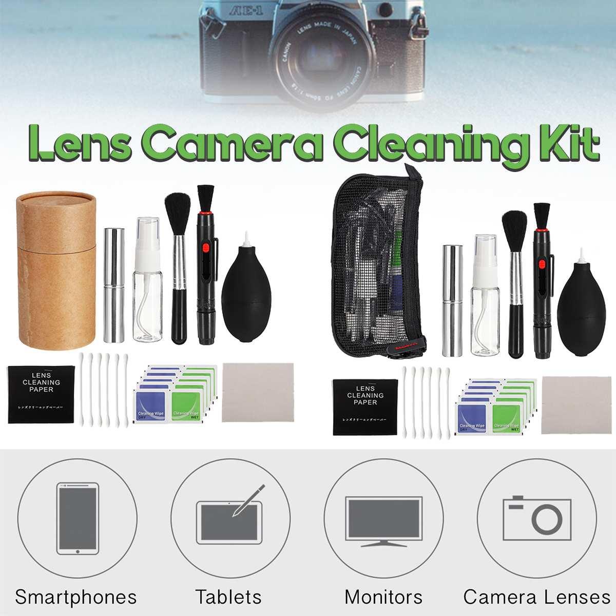 Professionelle DSLR Objektiv Kamera Reinigung Kit Gebläse Reiniger Stift Halter/Tuch Tasche Typ Für Canon/Nikon/Sony /Panasonic