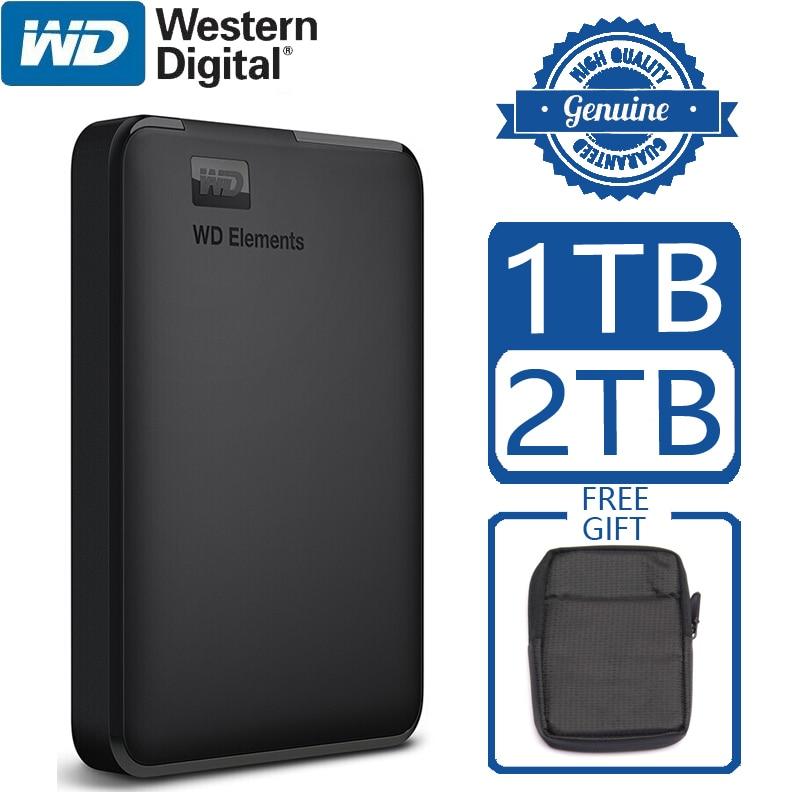 WD Elements Portable Externe Festplatte Festplatte HD 1TB 2TB Hohe kapazität SATA USB 3,0 Speicher Gerät Original für Computer Laptop