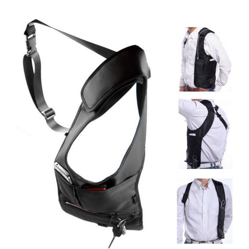 Сумка для подмышек с регулируемым ремнем, портативная Мужская нагрудная сумка с несколькими карманами