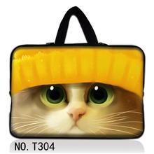 Blue Cute Cat Laptop Sleeve Bag Notebook Case Handbag For iPad Macbook Tablet PC 9.7 12 13 14 15 15.6 17 inch Women Men Kid bag